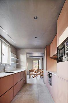 Gallery House - Picture gallery Wooden Kitchen Stools, Raul Sanchez, Küchen Design, Interior Design, Interior Ideas, Design Ideas, House Design, Black Kitchen Island, Software