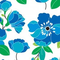 Kabloom Blue FashionistaCamelot Fabrics1 by TheCottonConnection, $9.50
