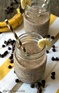 Frullato banana e cioccolato