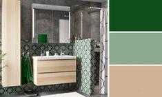 salle de bains gris vert mineral  #d&co