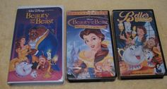 ***SOLD*** LOT of BEAUTY & BEAST Videotapes VHS VCR Tape Belle Magical World Disney Classic #Disney #BeautyBeast #Beauty #VCR #VHS #Videotape