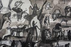 Reportáž: Na výstavě v Curychu trojice umělců včetně Josefa Zlamala směřuje od kresby k apokalypse