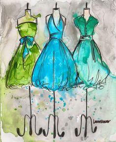 Aqua Vintage Dress Trio