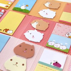 Ann Korean stationery cute fat rabbit N stickers / 6 fold Scratch Pad / sticky / message bar S202