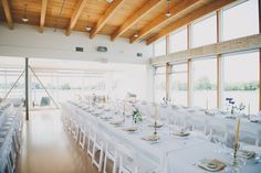 Rustic Summer Wedding Reception | Long Rectangular Guest Tables | John MS Lecky UBC Boathouse  | Photography by Jayme Lang