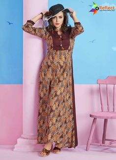 BREATHTAKING MULTI COLOR RAYON PRINTED KURTI