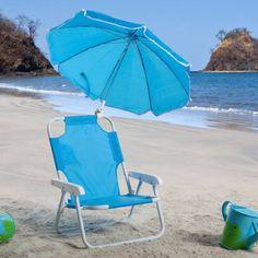 Kids Blue Beach Chair & Umbrella - 9001BL