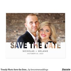 Save Our Date photo postcard ornate divider Postcard - photos gifts image diy customize gift idea