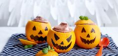 Sjokolademousse med appelsin til Halloween