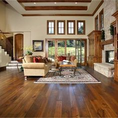 Great wall color for these beautiful floors!