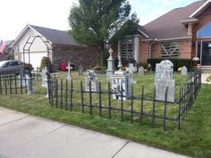 cemetery fences and gates | Thread: My cemetery with just fence and tombstones