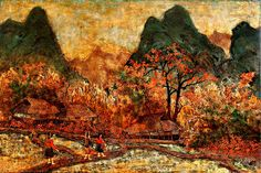 lacquer myanmar painting - Google Search