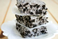 gonna try this one first!!!  a rice krispy treat... but with oreos instead. Are you for reals?