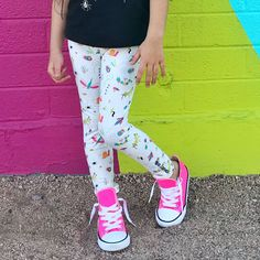 73f65e679332 because girls like bugs, too! insect leggings for toddler girls by Smarty  Girl.