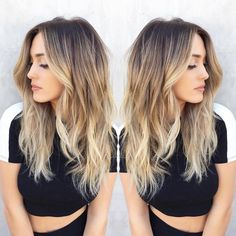 This soft, dimensional balayage by Olaplex colorist @nikkilee901 is flawless. Model- @ariellereitsma #balayage #shadowroot #natural #healthyhair #hair #blonde