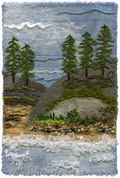 Coastal View 4 by Kirsten's Fabric Art, via Flickr