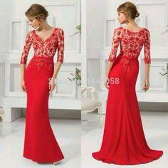 #vestido #encaje #rojo