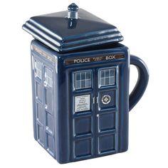 Doctor Who Tardis Police Box Coffee Mug With Lid - 17 oz