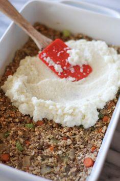Lentil Loaf with Creamy Cauliflower Mash - pumpkinandpeanutbutter