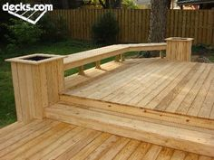 instead of a railing closing off the deck,   i love this idea to keep it open to our big back yard.