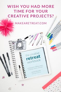 The Creative Retreat Workbook - This is exactly what I've been looking for! A workbook to show me how to create my own personal retreats so I can work on my projects without having to spend a lot of money. This workbook has space to brainstorm my creative goals for the year, a tutorial for a no-sew retreat bag, and TONS of prompts and ideas for me to get started right away. Love this!