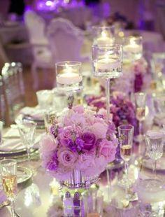 Wedding Reception Centerpiece Inspiration - Photo: Eli Turner Studios
