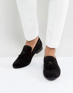 DUNE TASSEL LOAFERS BLACK SUEDE - BLACK. #dune #shoes #