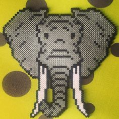 Elephant hama beads by benetvriquelme