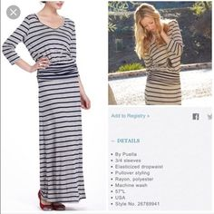 Anthro stripped maxi Puella dress size s, slight pilling at the bottom from wear but otherwise in great condition, elastic waist NO TRADES Anthropologie Dresses Maxi