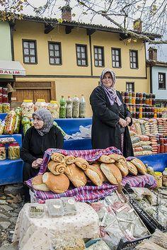 Bursa market ladies . Turkey