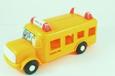 Sesame Street School Bus Illco Toy Muppets Elmo Fozzy Bert Toy Jim Henson