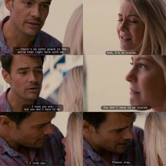 Alex (Josh Duhamel): I'm so sorry.. just please.. stay. Just tell me the truth, just tell me what happened. I don't care, I'm not going to let him hurt you anymore. Listen to me, I'm in love with you. If you stay I promise there's no safer place in the world than with me. You don't have to be scared.. I love you.. please stay. Safe Haven directed by Lasse Hallström (2013) Screenplay by Dana Stevens & Gage Lansky #nicholassparks #love