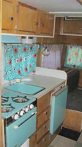 TRAVEL TRAILER VINTAGE '65 KIT TURQUOISE APPLIANCES /TOILET BATHROOM in RVs & Campers | eBay Motors
