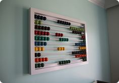 This website is cool - DIY knockoffs of designer decor! I found this abacus, which I *know* needs to be in my house somewhere.