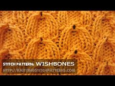 Wishbone Cable stitch - YouTube