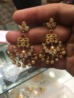 uncut chandbali earrings latest