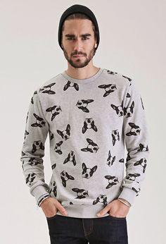 Boston Terrier Print Sweatshirt - Promo_21MensHoodiesTees - Promo_21MensHoodiesTees_02Hoodies - Sweatshirts & Hoodies - 2000117480 - Forever 21 UK