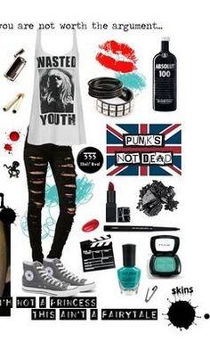 Punk Look Perfect Rock And Roll Fashion, Punk Rock Fashion, Grunge Fashion, Scene Outfits, Punk Outfits, Casual Outfits, Rock Style, My Style, Punk Looks