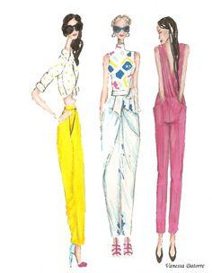 Fashion illustration: bye bye black