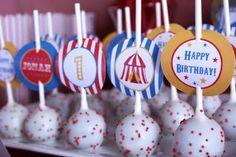 Carnival Party cake pops