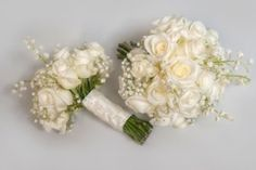 Ivory rose and lily of the valley bouquets (300 x 200)
