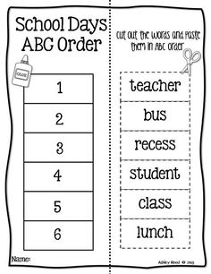 introducing abc order to littles just reed