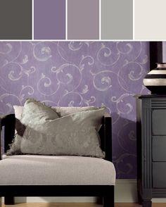 Purple Gianna  Designed By Brewster Home Fashions via Stylyze