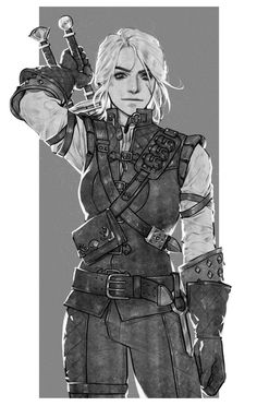 Witcher Armor, Witcher 3 Art, Ciri Witcher, The Witcher Books, The Witcher Game, Fantasy Character Design, Character Aesthetic, Character Design Inspiration, Character Concept