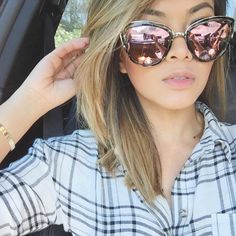 Gorgeous @thatsheart in the MY GIRL Sunglasses Black Tort by Quay  Shop ✖️ www.whitefoxboutique.com