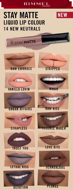 58 Ideas For Nails Matte Nute Hair Colors All Things Beauty, Beauty Make Up, Lip Makeup, Makeup Tips, Beauty Secrets, Beauty Hacks, Beauty Tips, Matte Lipstick, Lipsticks