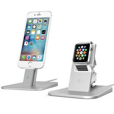 Twelve South HiRise for Apple Watch & iPhone gift combo stands, Silver