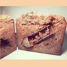 Super legal este Dio!! Amazing Dio!! Unknown Modeler from: pinterest spanish-team  #udk #usinadoskits #dio #diorama #dioramas #miniart #miniarte #arte #passatempo #tempolivre #hobby #instahobby #instakit #scale #scalemodel #modelscale #maquette