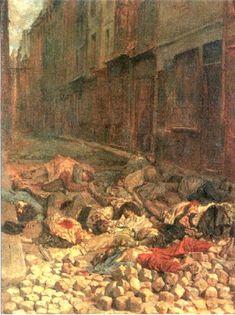 Souvenir of Civil War (1848) by Ernest Meissonier - Top 10 Disturbing Paintings Of Modern Historical Atrocities