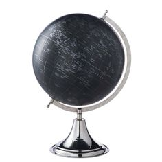 Mappamondo nero H 48 cm 1492